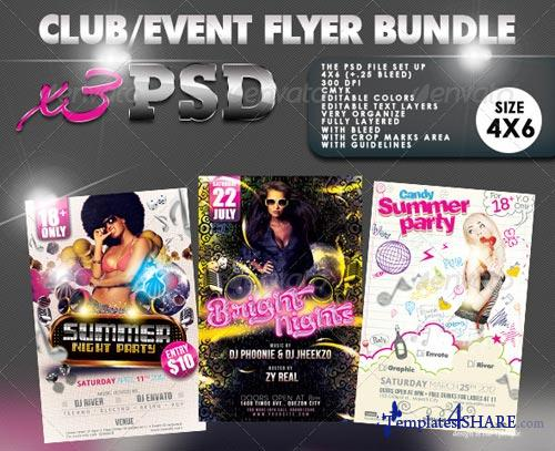 GraphicRiver Club/Event Flyer Bundle #03