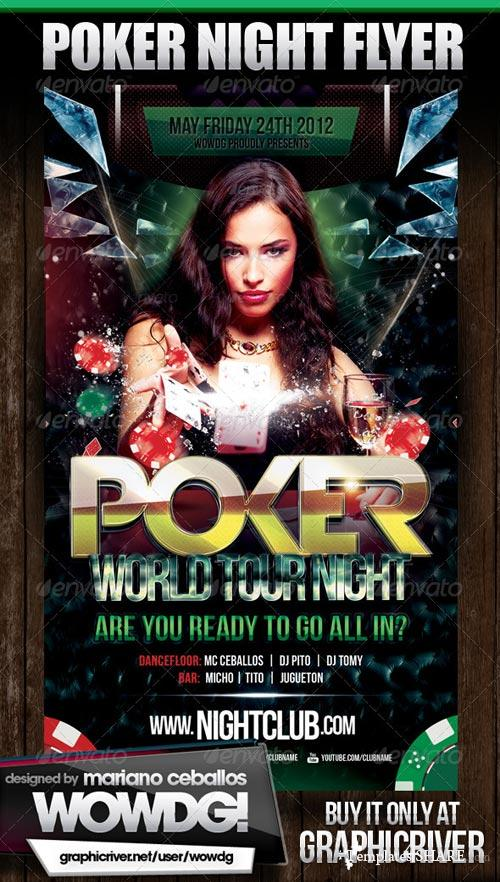 GraphicRiver Poker Nights Party Flyer
