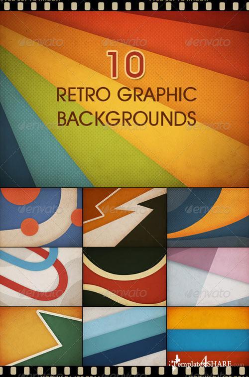 GraphicRiver 10 Retro Graphic Backgrounds