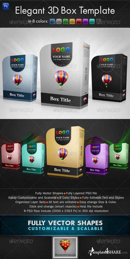 GraphicRiver Elegant 3D Box Template