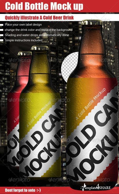 GraphicRiver Cold Bottle Mock Up