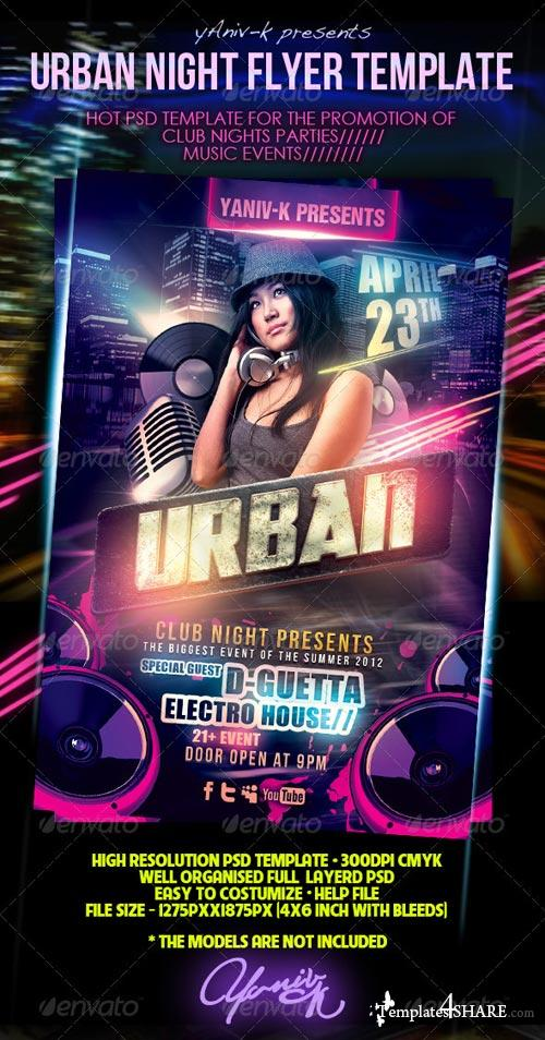 GraphicRiver Urban Night Flyer Template