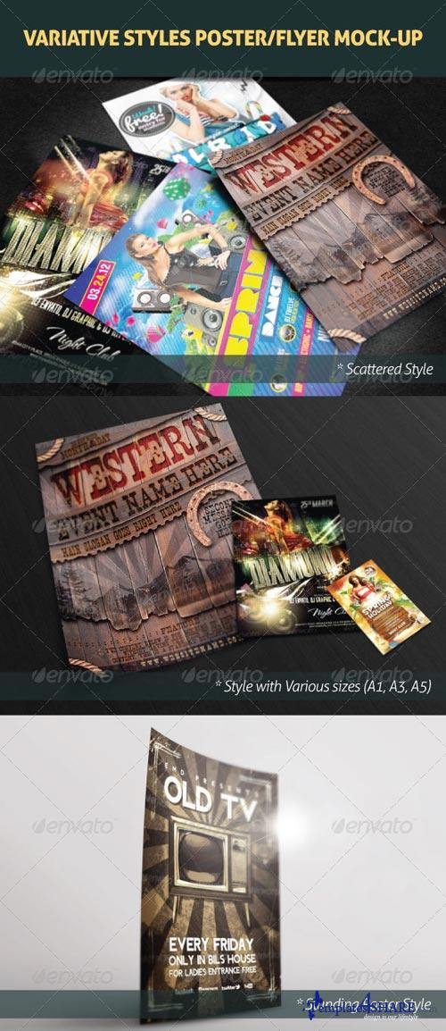 GraphicRiver Variative Styles Poster/Flyer Mock-Up
