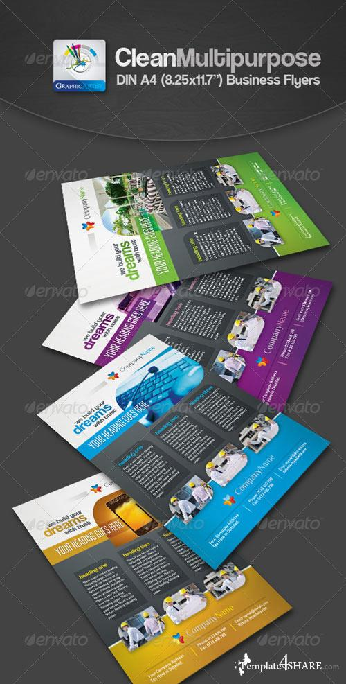 GraphicRiver Clean Multipurpose Business Flyers/Ads