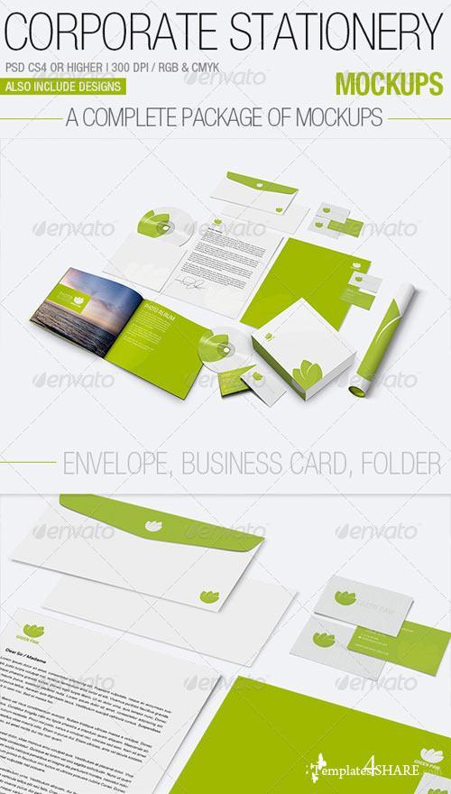 GraphicRiver Corporate Stationery Mockups