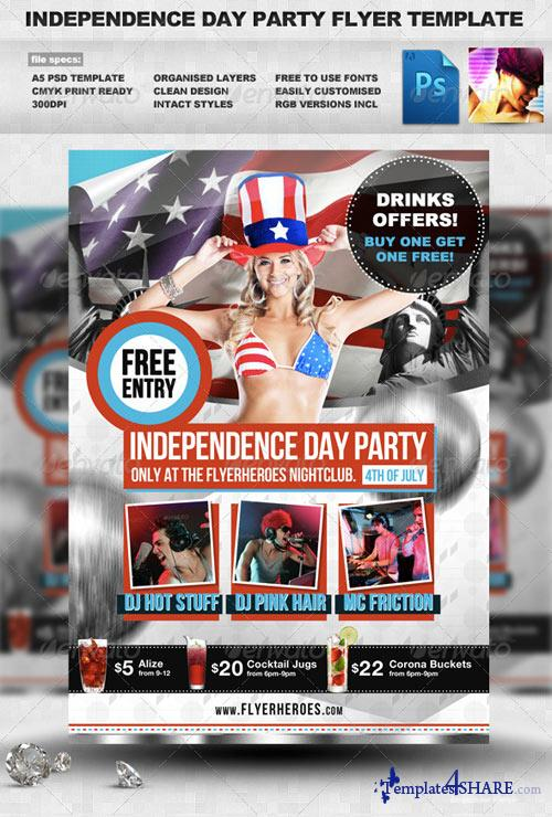 GraphicRiver Independence Day Flyer Template