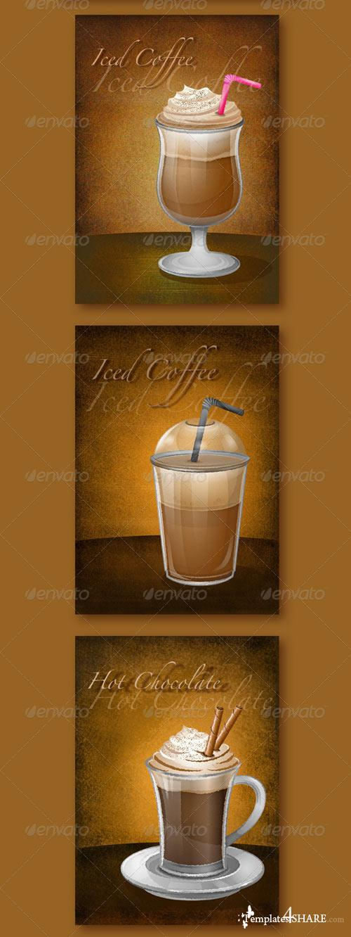 GraphicRiver Set of 7 Coffee Drawings