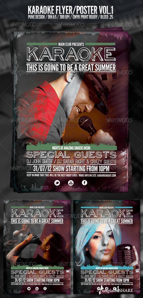 GraphicRiver Karaoke Club Flyer Vol.1