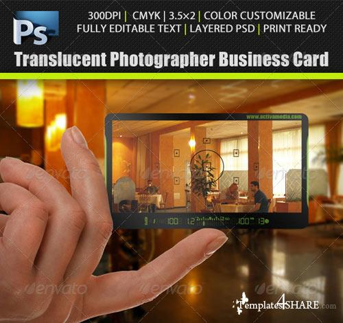GraphicRiver Translucent Photographer Business Card