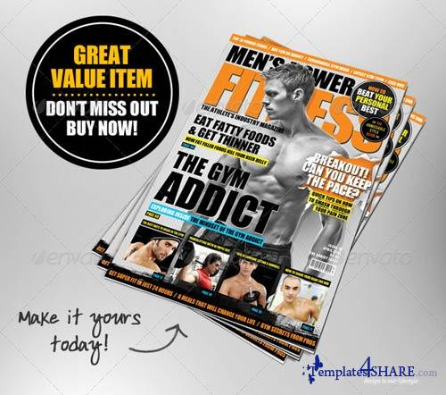 GraphicRiver Men's Power Fitness Magazine Cover Template