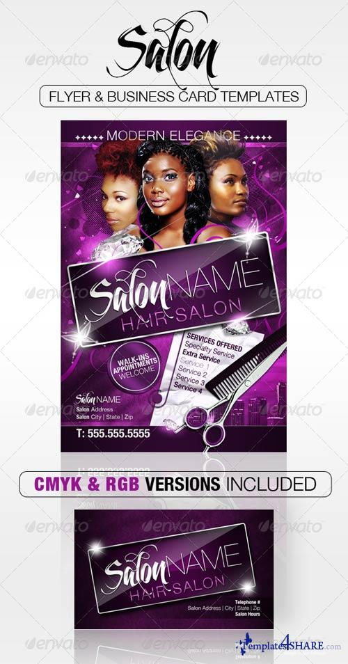 Graphicriver Salon Flyer And Business Card Templates Free Web Templates