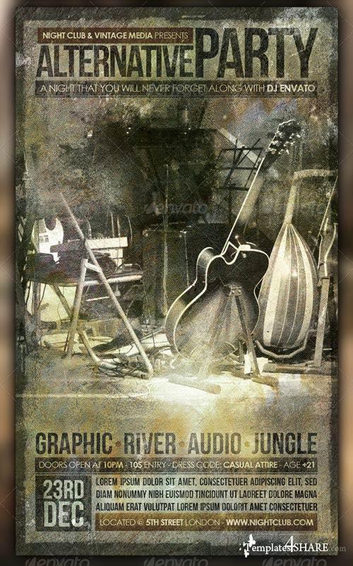 GraphicRiver Vintage Party Flyer