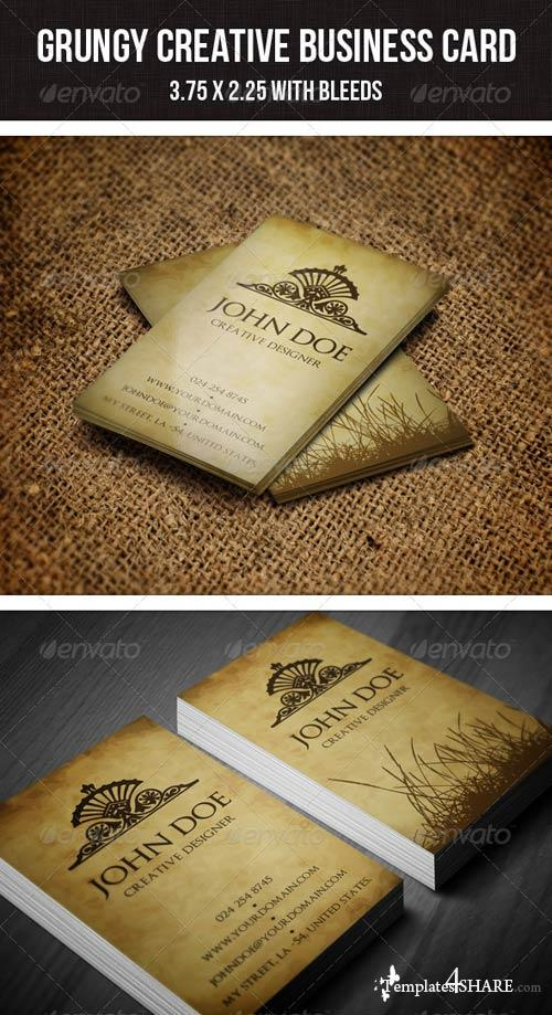 GraphicRiver Grungy Minimal Business Card