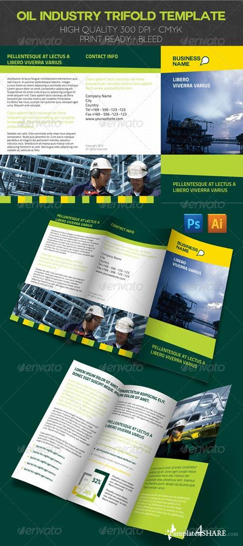 GraphicRiver Oil Industry Trifold Template