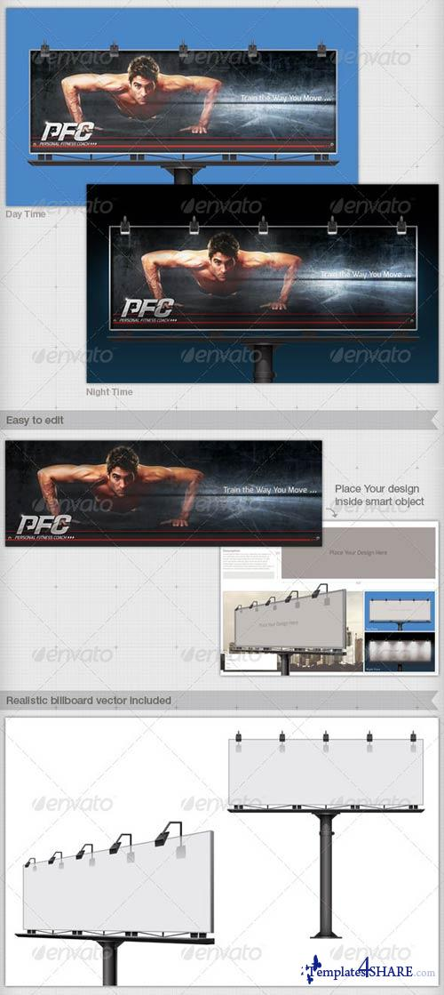 GraphicRiver Professional and Realistic Billboard Mock-Up