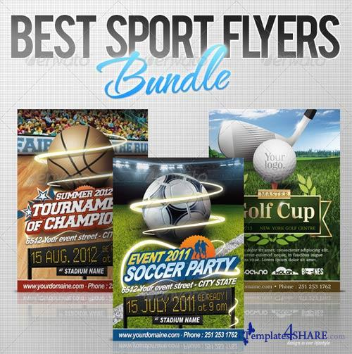GraphicRiver Best Sport Flyers Bundle Templates4share Free – Sports Flyers Templates Free