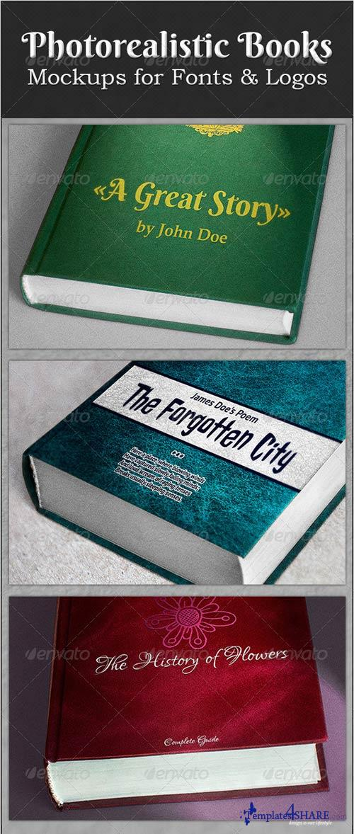 GraphicRiver Photorealistic Books Mockups for Fonts & Logos