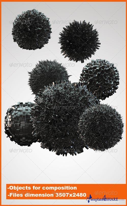 GraphicRiver 3D Liquid spheres