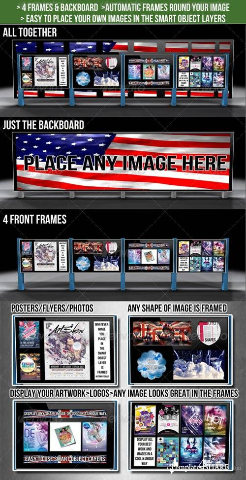GraphicRiver 4 Frames & Billboard Mockup