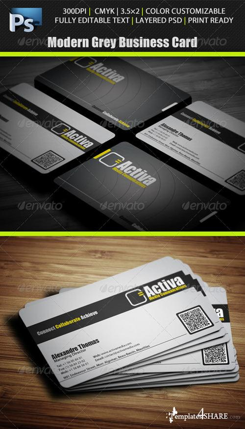 GraphicRiver Modern Grey Business Card