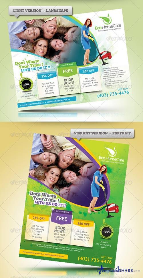 GraphicRiver Eco Cleaning Service Flyer Ad