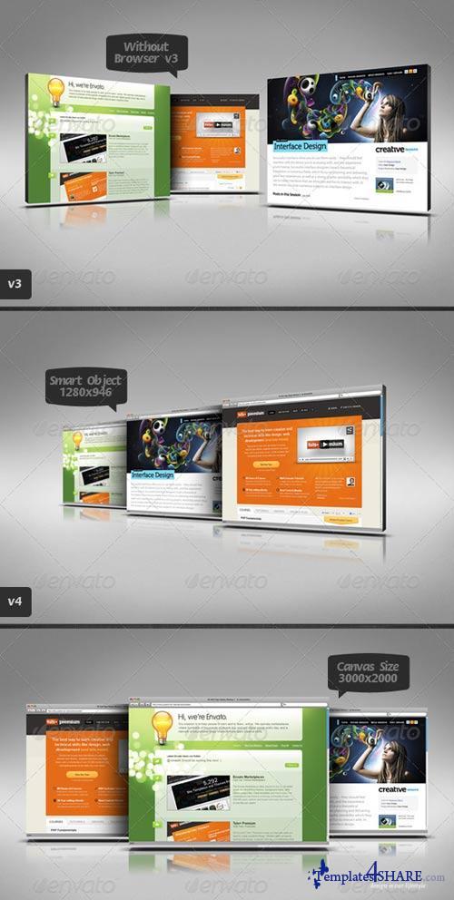 GraphicRiver 3D Web Page Display Mockups 3