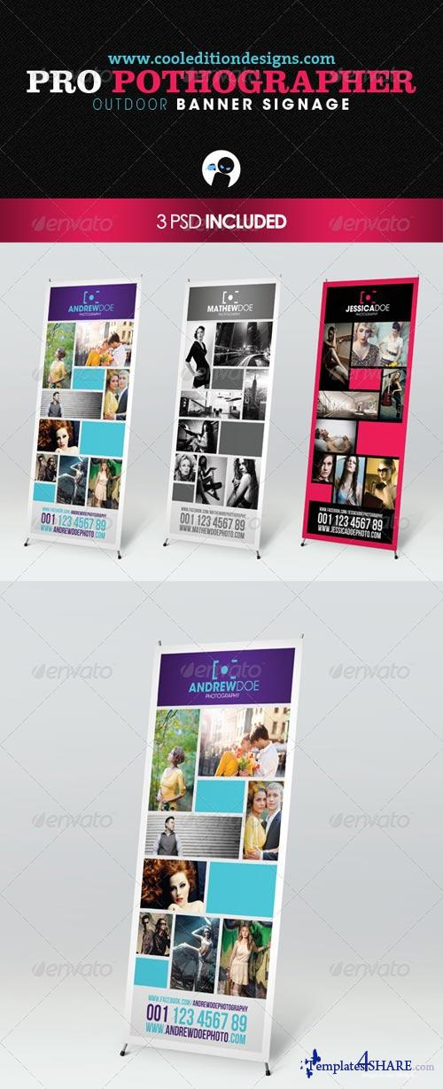 GraphicRiver Pro Photographer Outdoor Banner Signage