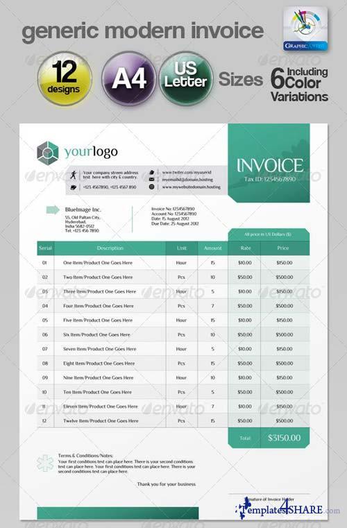 GraphicRiver Generic Modern Invoice