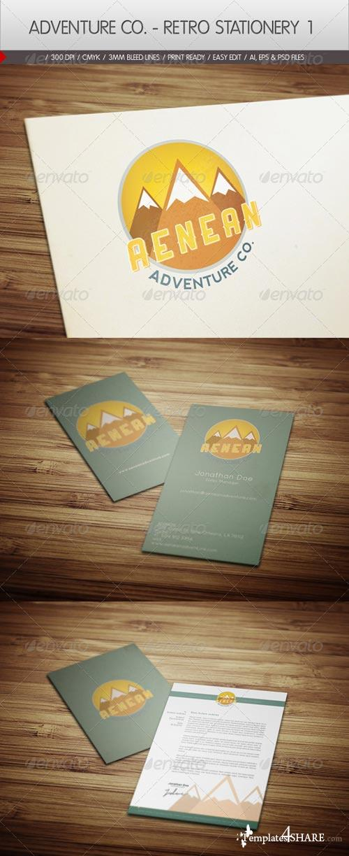 GraphicRiver Adventure Co. - Retro Stationery 1