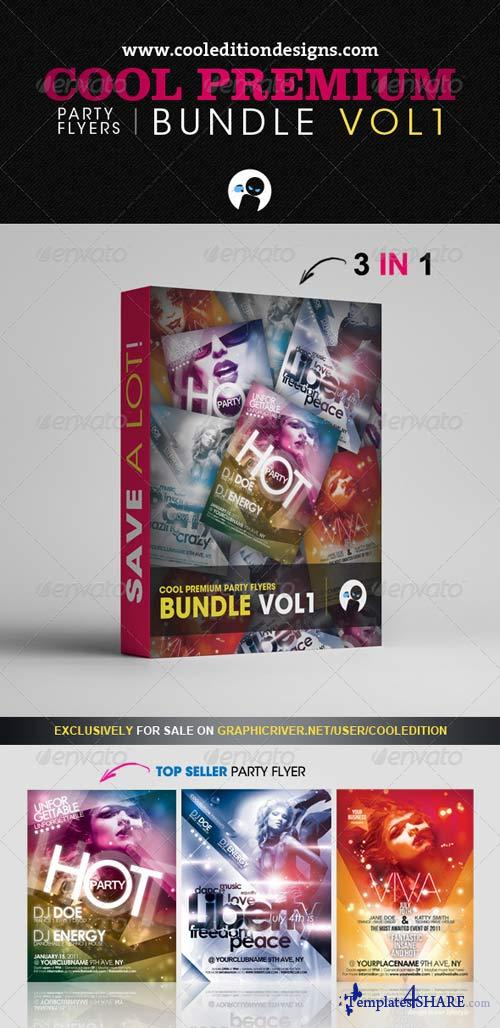 GraphicRiver Cool Premium Party Flyers Bundle VOL1