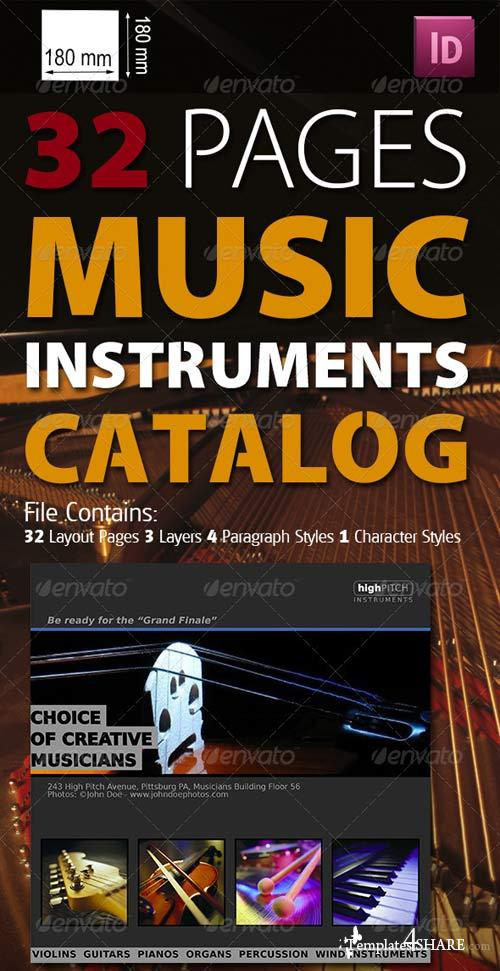 GraphicRiver 32 Pages Musical Instruments Catalog