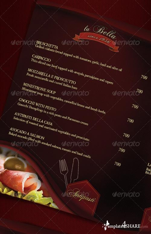 GraphicRiver La Bella - Restaurant Menu - Photos Included