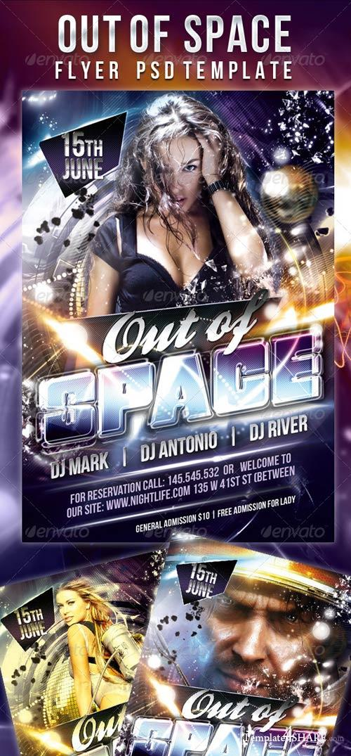 GraphicRiver Out of Space - Flyer PSD Template