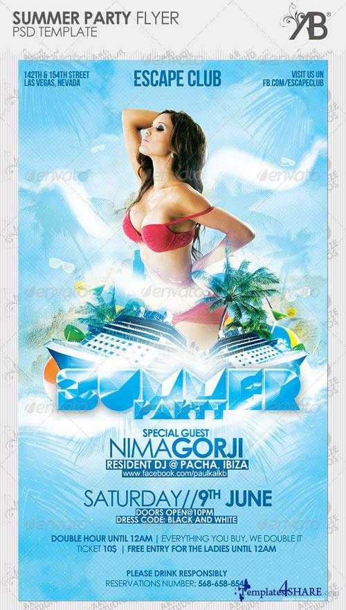 GraphicRiver Summer Party Flyer 2442799