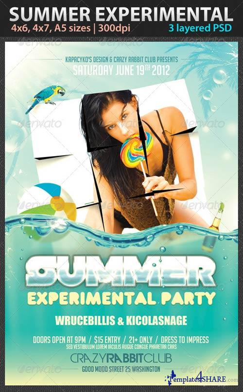GraphicRiver Summer Experimental Party Flyer