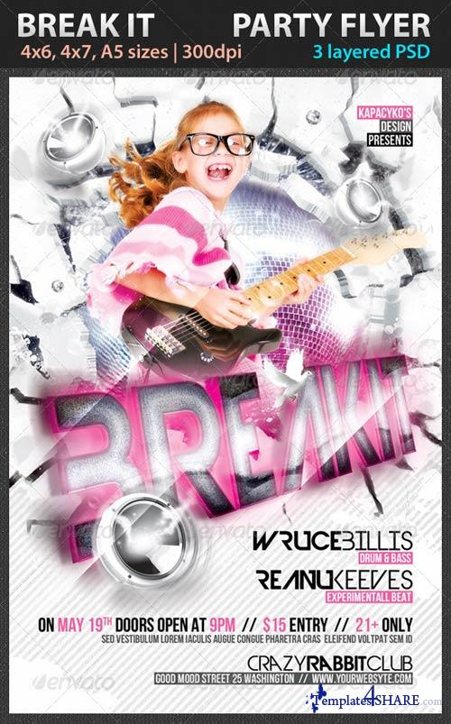 GraphicRiver Break it Party Flyer