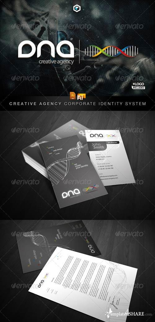GraphicRiver RW DNA Creative Agency Corporate Identity + Logo