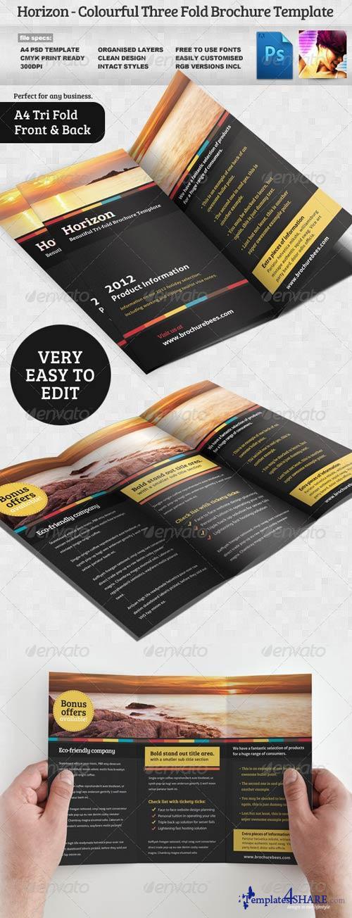 GraphicRiver Horizon Tri Fold Brochure Template