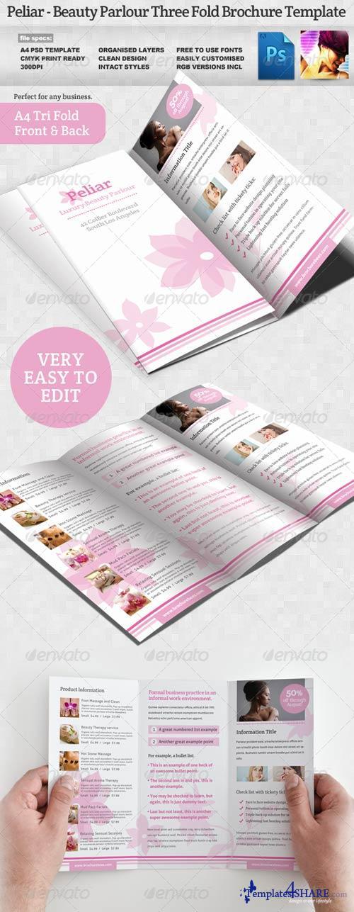 GraphicRiver Peliar Beauty / Hair Salon 3 Fold Brochure