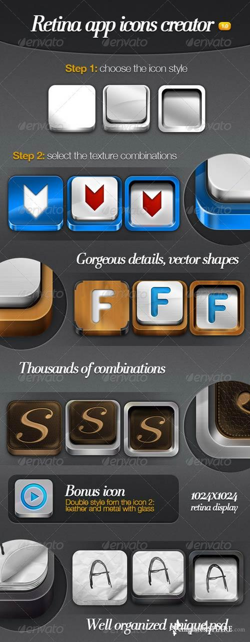 GraphicRiver Retina App Icons Creator