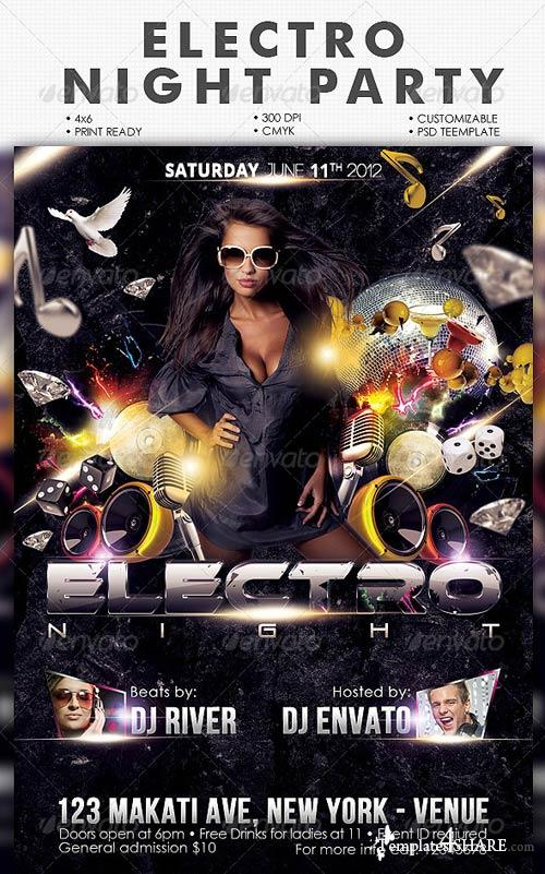 GraphicRiver Electro Nights Flyer Template