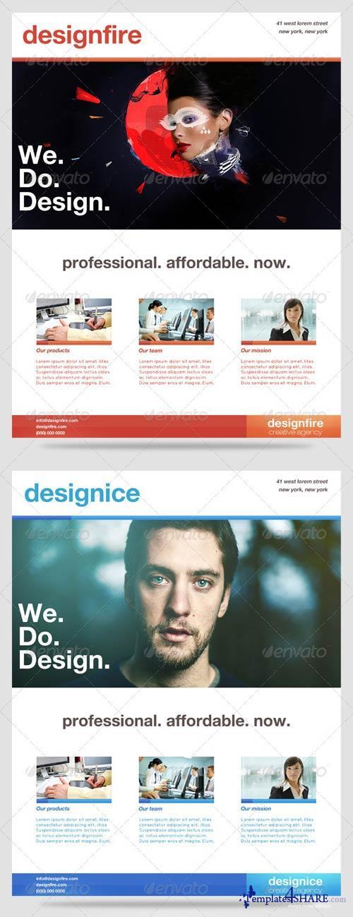 GraphicRiver DesignFire/ DesignIce Minimal Flyers