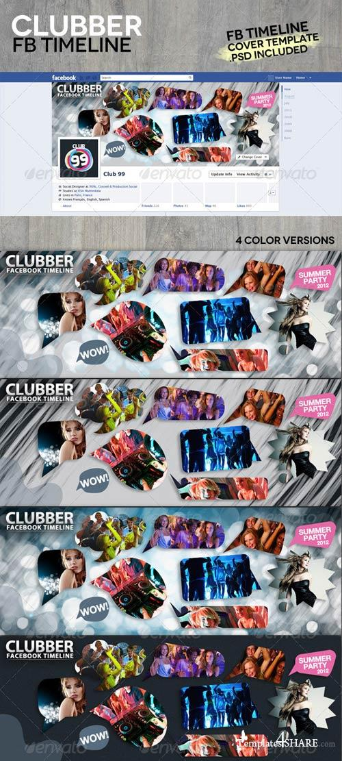 GraphicRiver Clubber Facebook Timeline