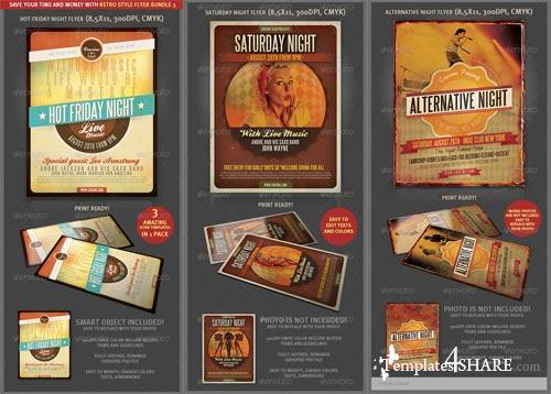 GraphicRiver Retro Style Flyer Bundle 3