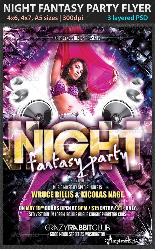 GraphicRiver Night Fantasy Party Flyer