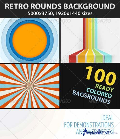GraphicRiver Retro Backgrounds Mega Bundle