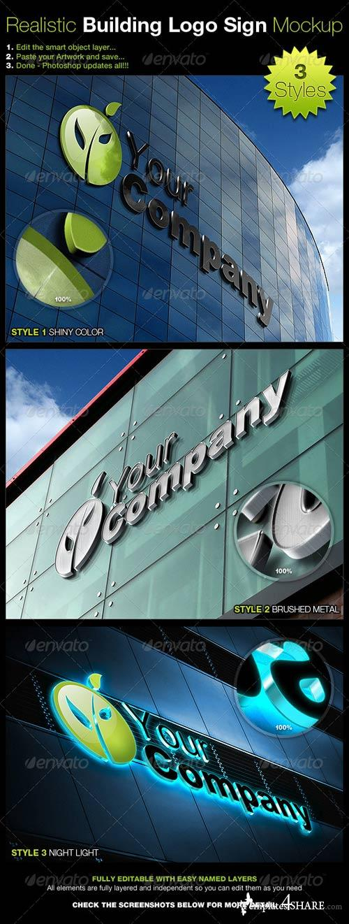GraphicRiver Realistic Building Logo Sign Mock-Up