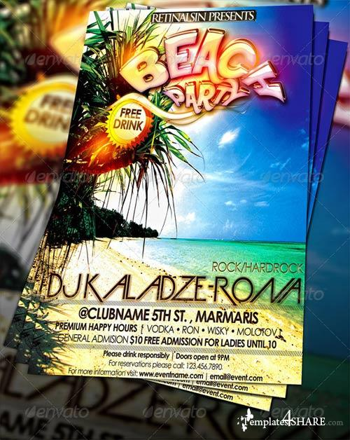 GraphicRiver Beach Party Flyer Template 234023