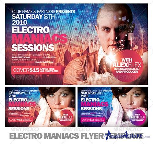 GraphicRiver Electro Maniacs Flyer Template
