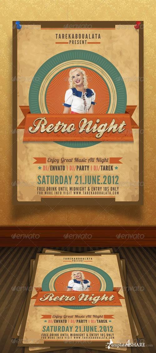 GraphicRiver Retro Night flyer